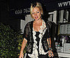 Slide Photo of Kate Moss Wearing Black and White in London