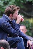 Photos of Robert Pattinson Filming Remember Me