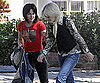 Photo Slide of Kristen Stewart and Dakota Fanning Filming The Runaways in LA