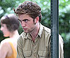 Slide Photo of Pattinson in Brown Filming Remember Me