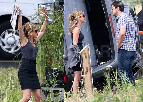Photos of Jennifer Aniston and Gerard Butler on the Set of The Bounty