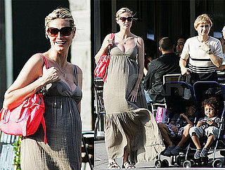 Photos of Pregnant Heidi Klum, Leni, Johan, Henry Samuel in NYC