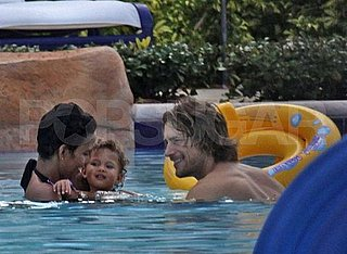 Photos of Shirtless Gabriel Aubry, Halle Berry and Nahla Swimming in Miami