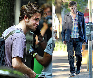 Photos of Robert Pattinson on Set in NYC With Rumors of Split With Kristen