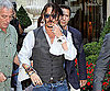 Photo Slide of Johnny Depp Leaving His Paris Hotel