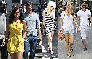Photos of Blake Lively, Chace Crawford, Penn Badgley, Taylor Momsen and Joanna Garcia Filming Gossip Girl in NYC