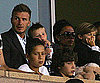 Slide Photo of David Beckham Watching Soccer With Victoria, Romeo, and Cruz Beckham