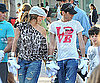 Photo Slide of Jennifer Lopez and Marc Anthony at Disneyland