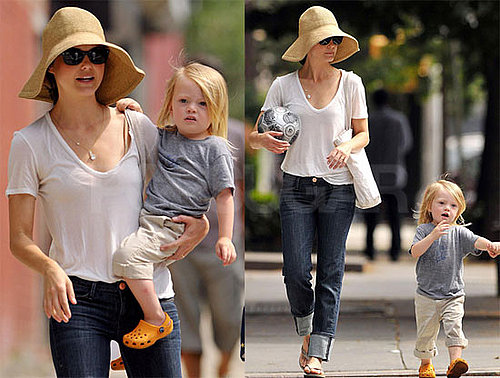 Photos of Keri Russell with Her Adorable Son River Heading to a Park in Brooklyn
