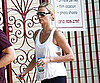 Photo Slide of Charlize Theron Leaving the Gym