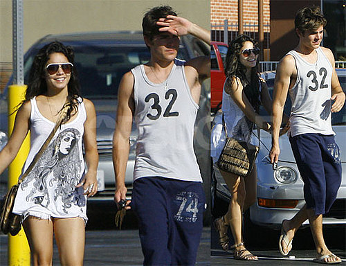 Photos of Zac Efron and Vanessa Hudgens at Panera in LA