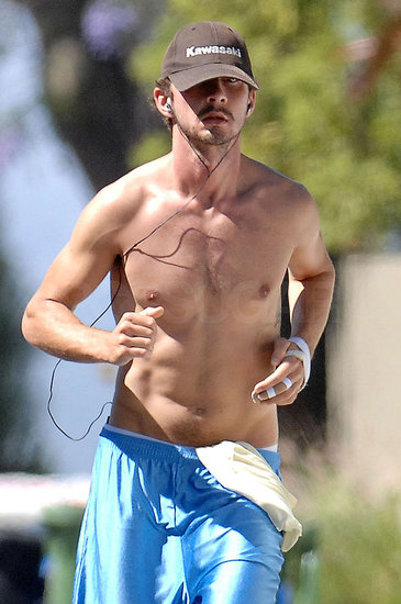 Shia LaBeouf Shirtless
