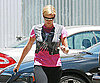 Photo Slide of Charlize Theron Leaving an LA Gym