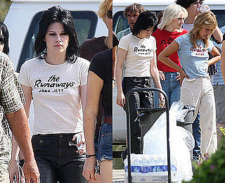 Photos of Kristen Stewart and Dakota Fanning Filming The Runaways in LA