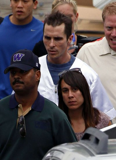 Photos of Mark Wahlberg and Christian Bale on the Set