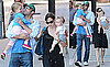 Photos of Jennfier Garner and Ben Affleck Walking With Seraphina and Violet