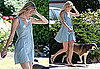 Photos of Kate Bosworth Walking Her Dog in LA