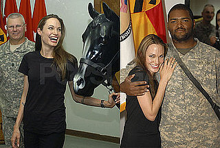 Photos of Angelina Jolie Visiting With Soldiers in Iraq