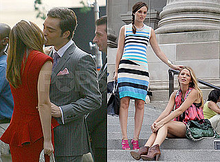 Photos of Ed Westwick Kissing Leighton Meester on the Set of Gossip Girl in NYC