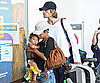 Slide Photo of Halle Berry at LAX With Nahla and Gabriel