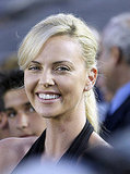 Photos of Charlize Theron and Ashton Kutcher at a Soccer Game