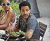 Photo Slide of Lenny Kravitz Eating Lunch in Zagreb, Croatia