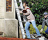 Slide Photo of Katie Holmes Picking Up Ladder on Don't Be Afraid of the Dark