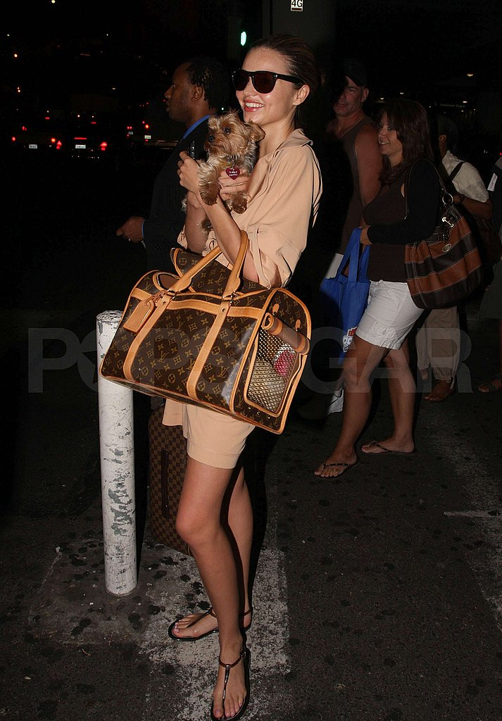 Photos of Miranda Kerr with Her Puppy and Orlando Bloom