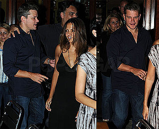 Photos of Matt Damon and Luciana Damon in New York