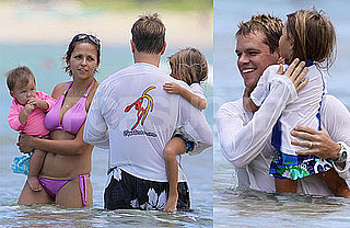 Photos of Matt Damon In Hawaii With Luciana In A Bikini, Isabella and Gia