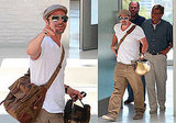 Photos of Brad Pitt Smiling in LA