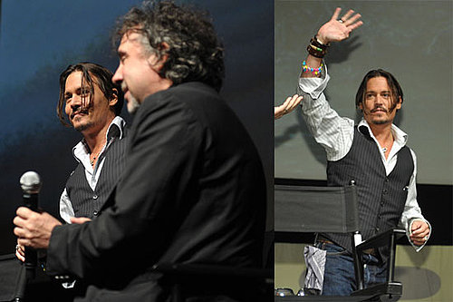 Photos of Johnny Depp and Tim Burton Promoting Alice in Wonderland at 2009 Comic-Con in San Diego