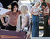 Photos of Kristen Stewart and Dakota Fanning on The Runaways Set