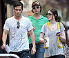 Photo Slide of Penn Badgley and Michelle Trachtenberg on the NYC Set of Gossip Girl