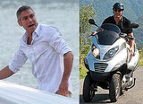 Photos of George Clooney on a Motorcycle in Italy