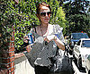 Slide Photo of Lindsay Lohan Carrying Water and Pepsi in LA