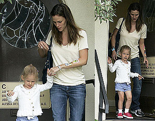 Photos of Jennifer Garner Leaving the Doctor's Office With Stickers on Her Arm