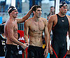 Slide Photo of Shirtless Michael Phelps After Winning 100m Freestyle Final in Rome