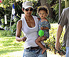 Photo Slide of Halle Berry and Nahla Aubry Leaving a Friend's House in NYC