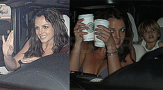 Photos of Britney Spears, Jason Trawick, Sean Preston at Starbucks in LA After Her European Tour Ends