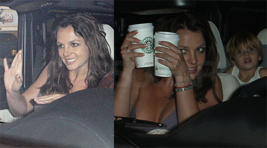 Photos of Britney Spears, Jason Trawick, Sean Preston in Calabasas at Starbucks