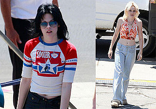 Photos of Kristen Stewart, Dakota Fanning, Michael Shannon Filming The Runaways Late Night in LA