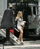 Photos of Jennifer Aniston on the Set of The Bounty in NYC