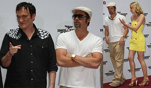 Photos of Brad Pitt, Diane Kruger, Quentin Tarantino at Inglourious Basterds Photo Call in Berlin