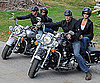 Slide Photo of George Clooney, Elisabetta Canalis, Cindy Crawford, and Rande Gerber in Italy in Motorcycles