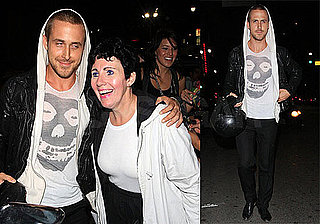 Photos of Ryan Gosling Getting Mobbed by Fans Outside of Bardot