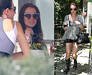 Photos of Lindsay Lohan Lunching in LA, Rumored New Movie Role Offered to Her, Meltdown on Samantha's Stoop