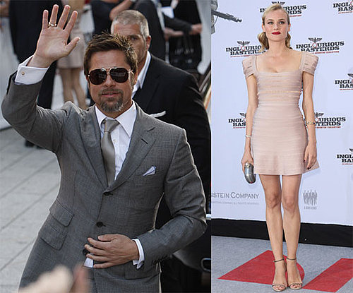Photos of Brad Pitt and Diane Kruger at the Premiere of Inglourious Basterds in Germany
