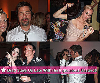 Photos of Drunk Brad Pitt at Inglourious Basterds Afterparty