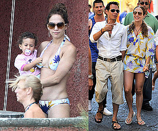 Jennifer Lopez Bikini Photos in Italy With Marc Anthony and Twins